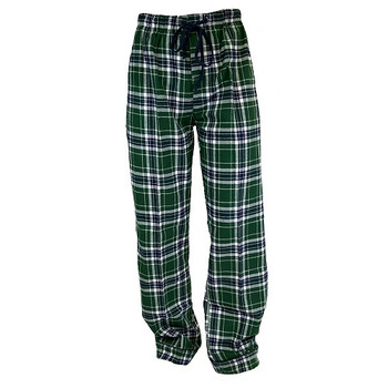 Human Adult Green Plaid Flannel Pajama Bottoms