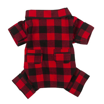 Buffalo Check Flannel Dog Pajamas