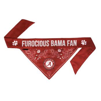 Alabama Crimson Tide Pet Reversible Paisley Bandana