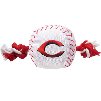 Cincinnati Reds Nylon Baseball Rope Tug Toy