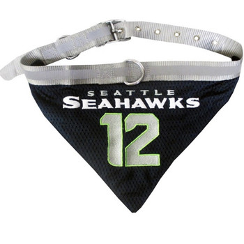 "Seattle Seahawks ""12th Man"" Pet Collar Bandana"