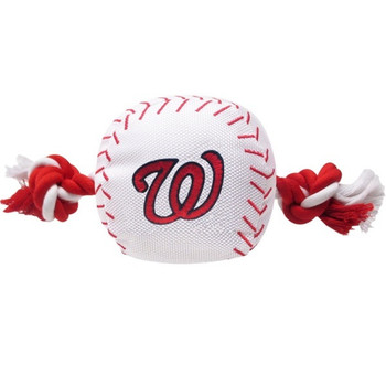 Washington Nationals Nylon Baseball Rope Tug Toy