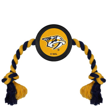 Nashville Predators Pet Hockey Puck Rope Toy