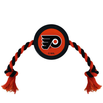 Philadelphia Flyers Pet Hockey Puck Rope Toy