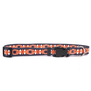 Chicago Bears Argyle Nylon Collar