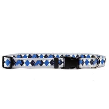 Detroit Lions Argyle Nylon Collar