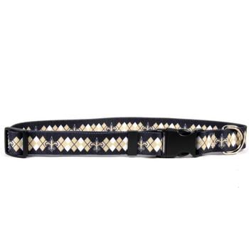 New Orleans Saints Argyle Nylon Collar