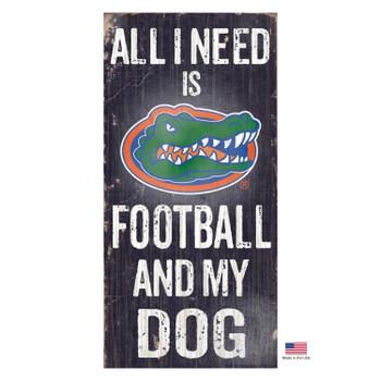 Florida Gators Distressed Football And My Dog Sign