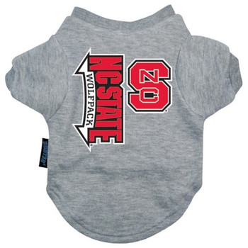 NC State Wolfpack Heather Grey Pet T-Shirt