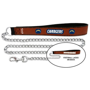 San Diego Chargers Football Leather and Chain Leash