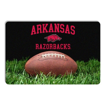Arkansas Razorbacks Classic Football Pet Bowl Mat