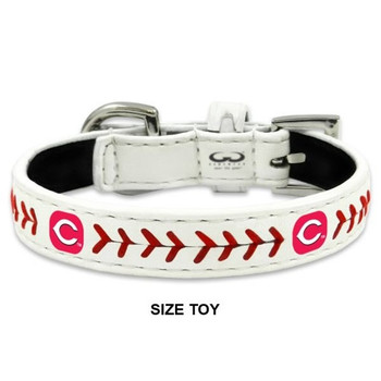 Cincinnati Reds Classic Leather Baseball Collar