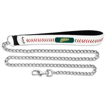 Oakland A's Leather Baseball Seam Leash