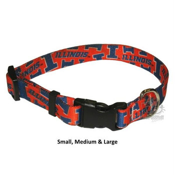 Illinois Fighting Illini Nylon Collar