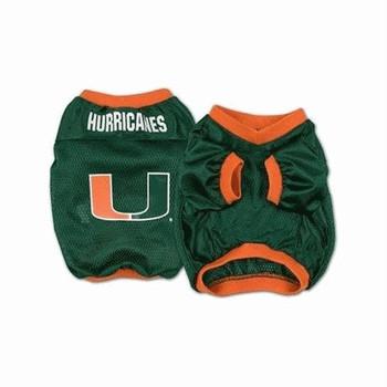 Miami Hurricanes Dog Jersey - Alternate Style