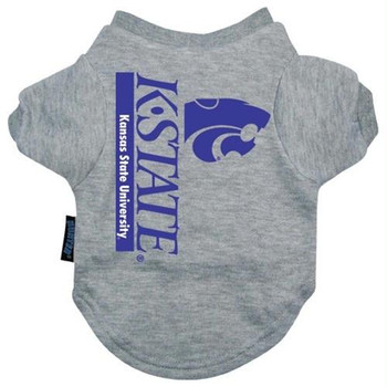 Kansas State Wildcats Heather Grey Pet T-Shirt