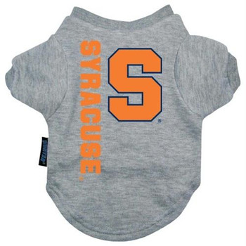 Syracuse Orange Heather Grey Pet T-Shirt
