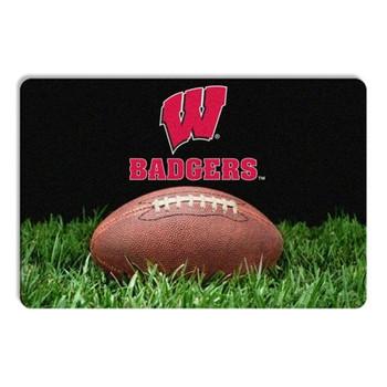 Wisconsin Badgers Classic Football Pet Bowl Mat