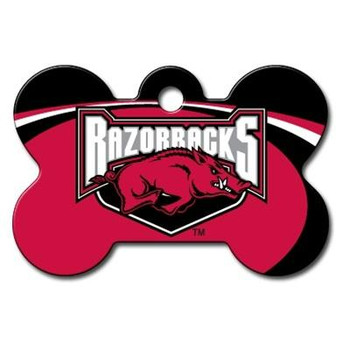 Arkansas Razorbacks Bone ID Tag