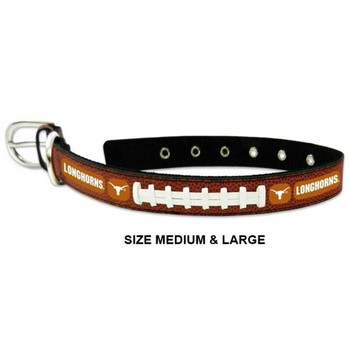 Texas Longhorns Classic Leather Football Collar