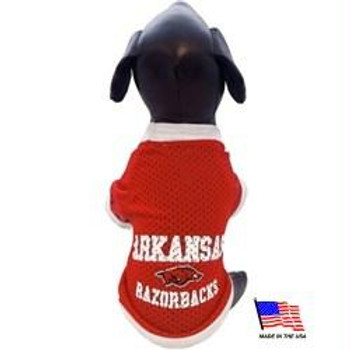 Arkansas Razorbacks Athletic Mesh Pet Jersey