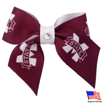 Mississippi State Bulldogs Pet Hair Bow