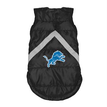 Detroit Lions Pet Puffer Vest - Teacup