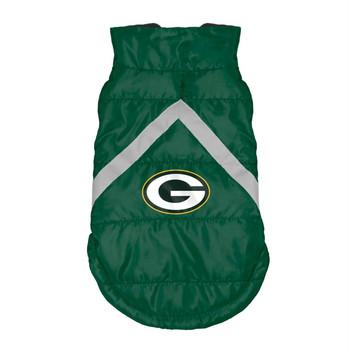 Green Bay Packers Pet Puffer Vest