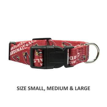 Arizona Cardinals Pet Nylon Collar - XS