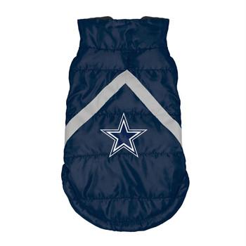 Dallas Cowboys Pet Puffer Vest - Teacup