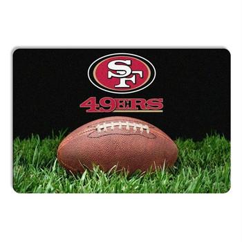 San Francisco 49ers Classic Football Pet Bowl Mat