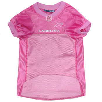 Carolina Panthers Pet Dog Jersey - Pink