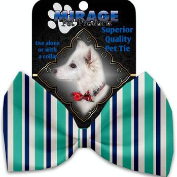 Aquatic Stripes Pet Bow Tie