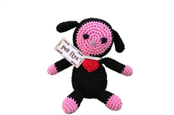 Knit Knacks Baabaa Lamb Organic Cotton Small Dog Toy