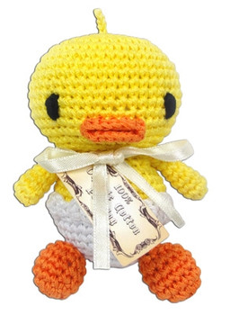 Knit Knacks Hatch The Baby Duck Organic Cotton Small Dog Toy