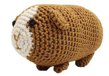 Knit Knacks Goober The Guinea Pig Organic Cotton Small Dog Toy