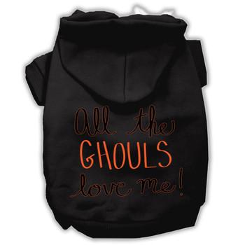 All The Ghouls Screenprint Dog Hoodie - Black