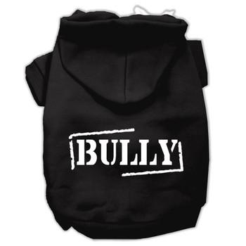 Bully Screen Printed Pet Hoodies - Black