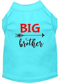 Big Brother Screen Print Dog Shirt - Aqua