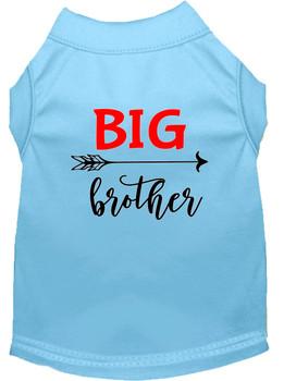 Big Brother Screen Print Dog Shirt - Baby Blue