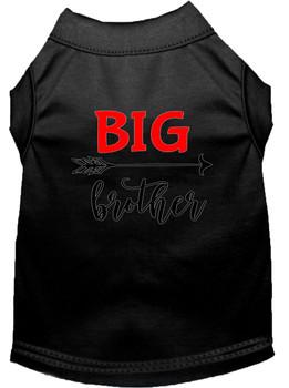 Big Brother Screen Print Dog Shirt - Black