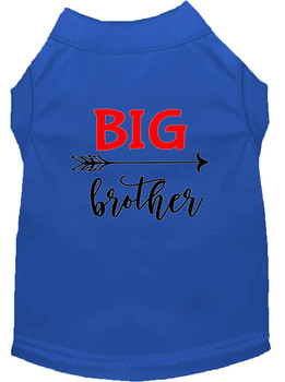 Big Brother Screen Print Dog Shirt - Blue