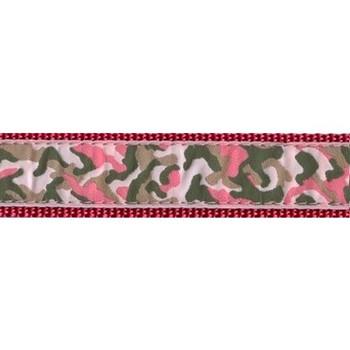 Pink Camo 3/4 & 1.25 inch Dog Collar, Harness