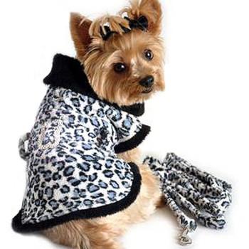 Blue Snow Leopard Dog Coat by Doggie Design