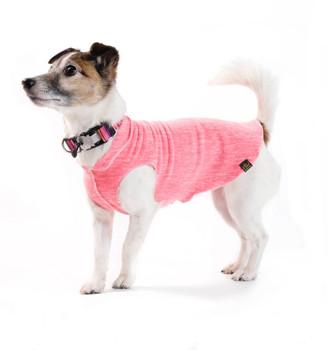 Sun Shield Pet Dog Tee - Coral Heather
