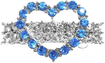 Heart Hair Barrette Blue