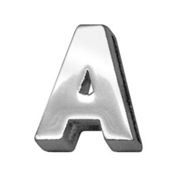 "3/4"" (18mm) Chrome Letter Sliding Charms A"