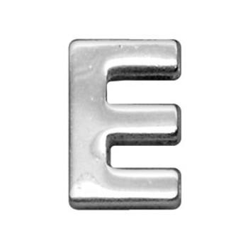 """3/4"""" (18mm) Chrome Letter Sliding Charms E"""