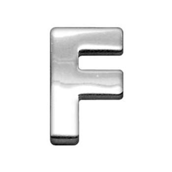"""3/4"""" (18mm) Chrome Letter Sliding Charms F"""