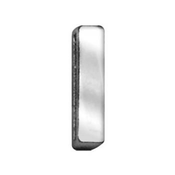 """3/4"""" (18mm) Chrome Letter Sliding Charms I"""
